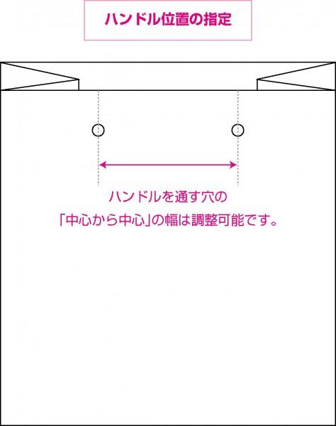 紙袋のハンドルの位置調整