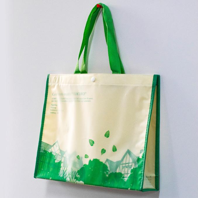 乳白EVA2層タイプの不織布バッグ