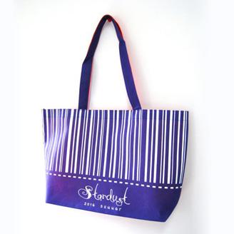 生地2色の不織布バッグ