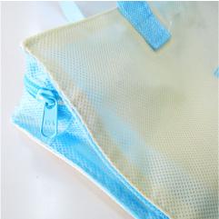 不織布バッグのジッパー