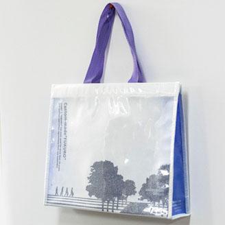 高透明PE2層(印刷ラメ)の不織布バッグ