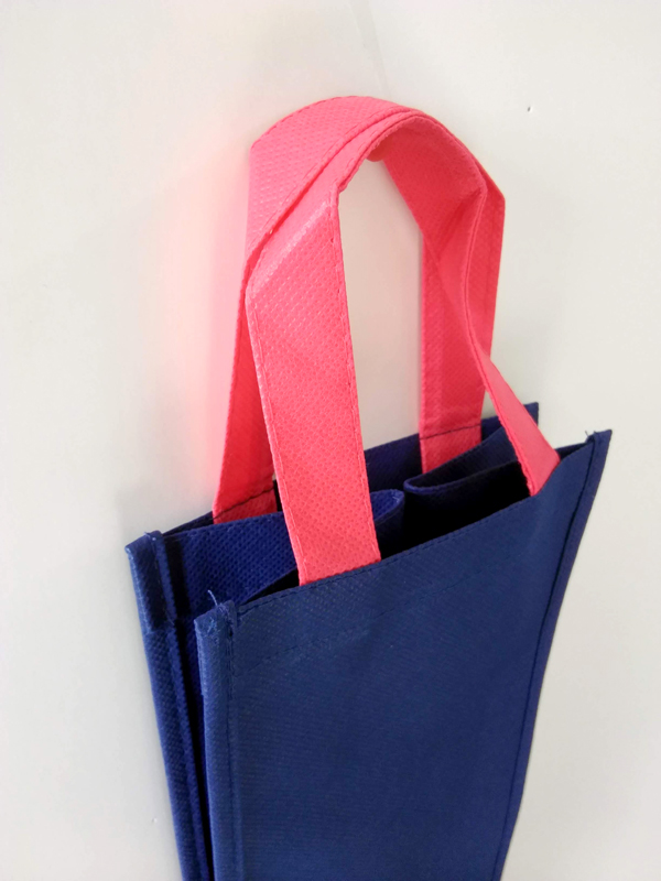 生地色二色の不織布バッグ01