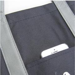 不織布バッグの外ポケット